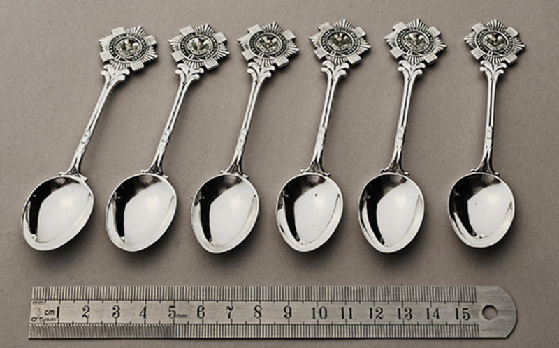 Leopard Antiques Transvaal Scottish Regiment - Set of 6 Silver and ...