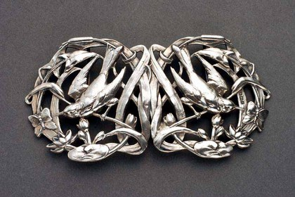 Art Nouveau Silver Belt Buckle